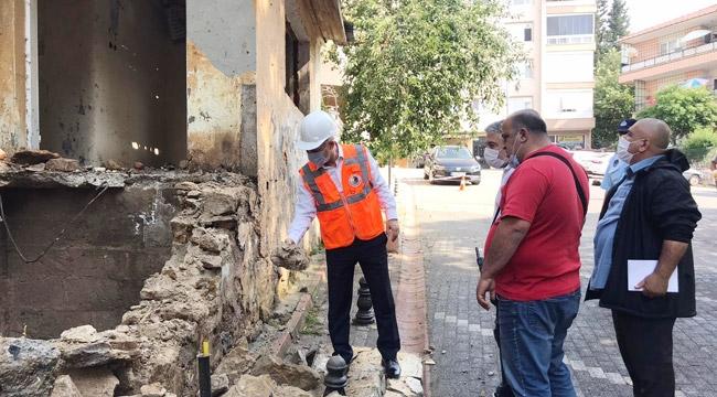 Kartal'daki Eski Binalar Yıkılıyor