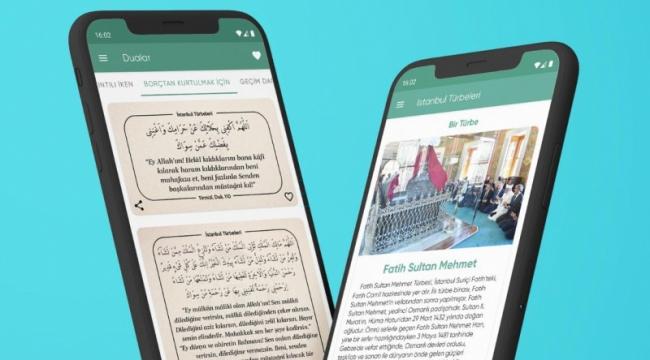 İstanbul daki Türbeler artık akıllı telefon ve tablette