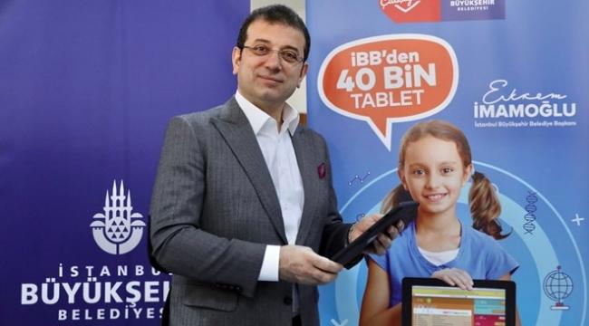 İstanbul Büyükşehir Belediyesi, 40 bin öğrenciye tablet dağıtacak