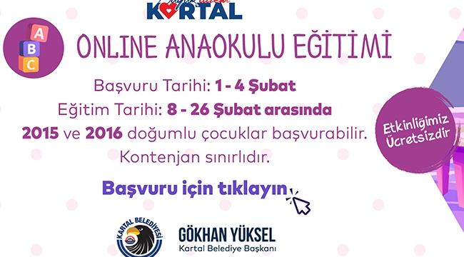 Kartal Belediyesi'nden Ücretsiz Online Anaokulu Eğitimi