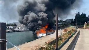 Maltepe'de Tekne Yangını