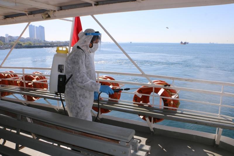 Deniz Araçları Dezenfekte Edildi