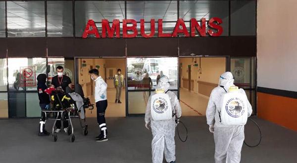 Kartal'da Hastaneler Dezenfekte Ediliyor
